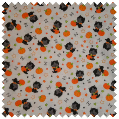 Halloween Bats and Cats-White