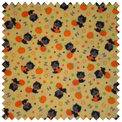 Halloween Bats and Cats-Yellow