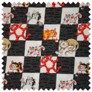 Alley Kat Checkerboard Kat-Gray