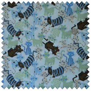 Funky Kitties-Blue