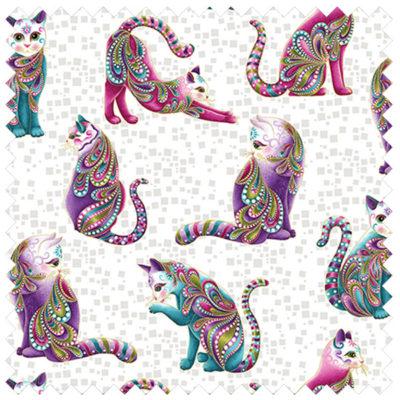 Cat-i-tude Cats-White